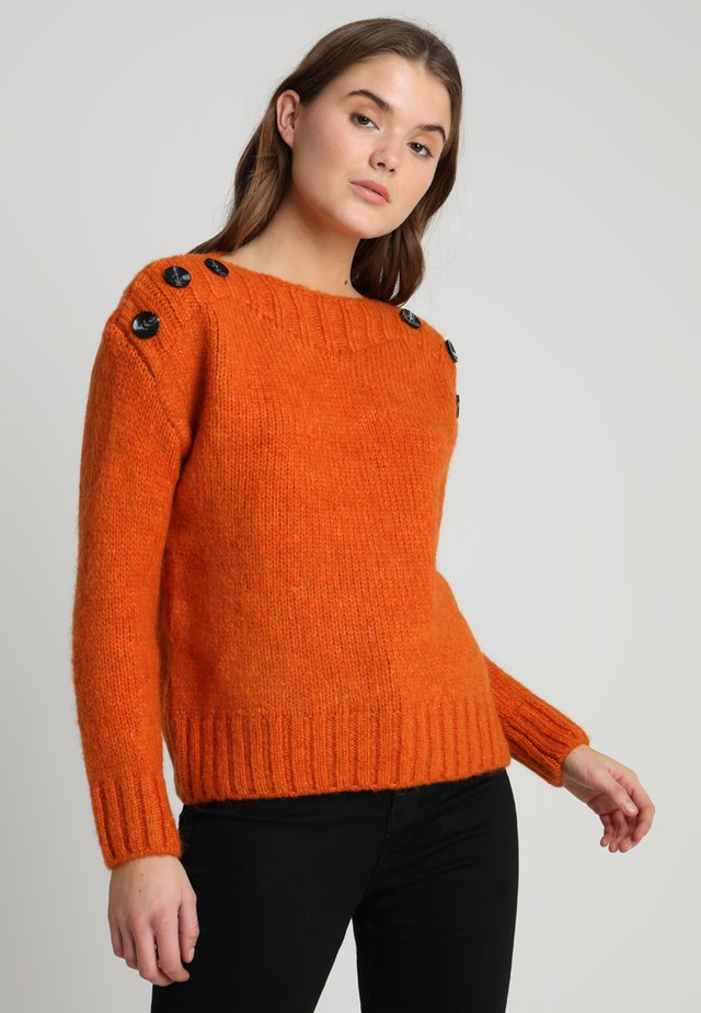 BUTTON SHOULDER BEAUTY JUMPER - Trui - bright orange