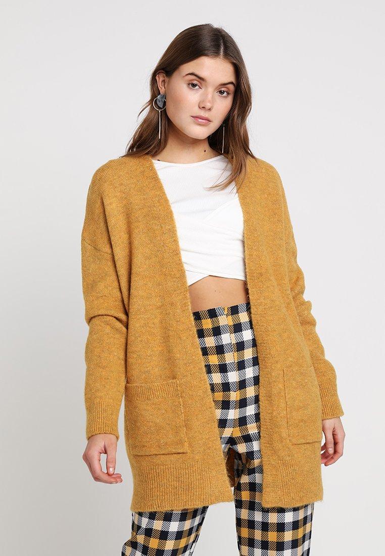 New Look - MITTENS CARDI - Vest - dark yellow