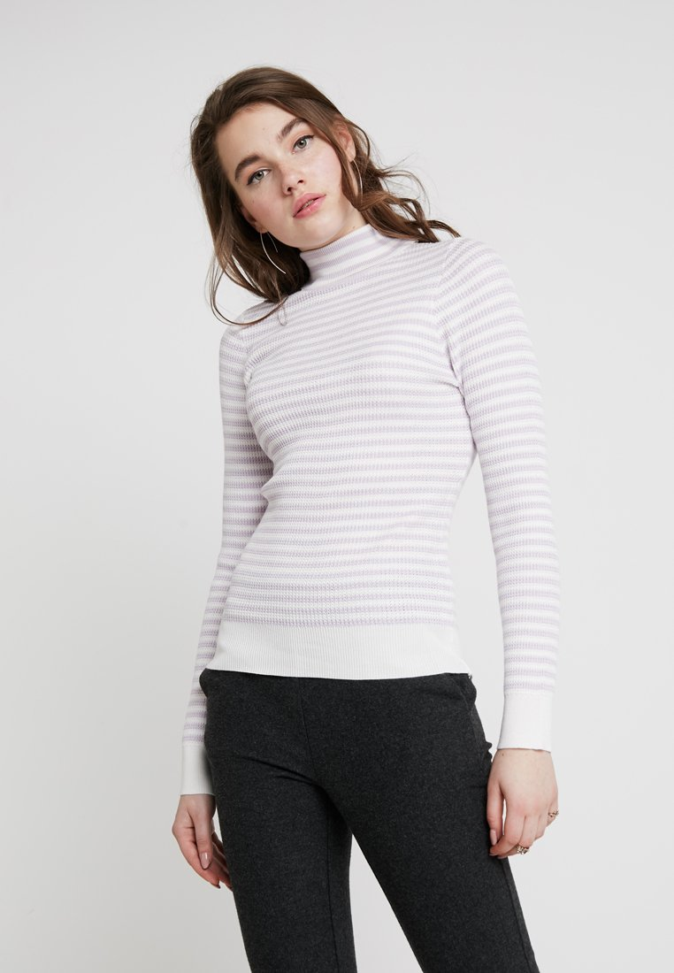 New Look - STRIPE - Strickpullover - lilac