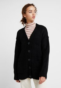 New Look - BOYFRIEND CARDI - Cardigan - black - 0