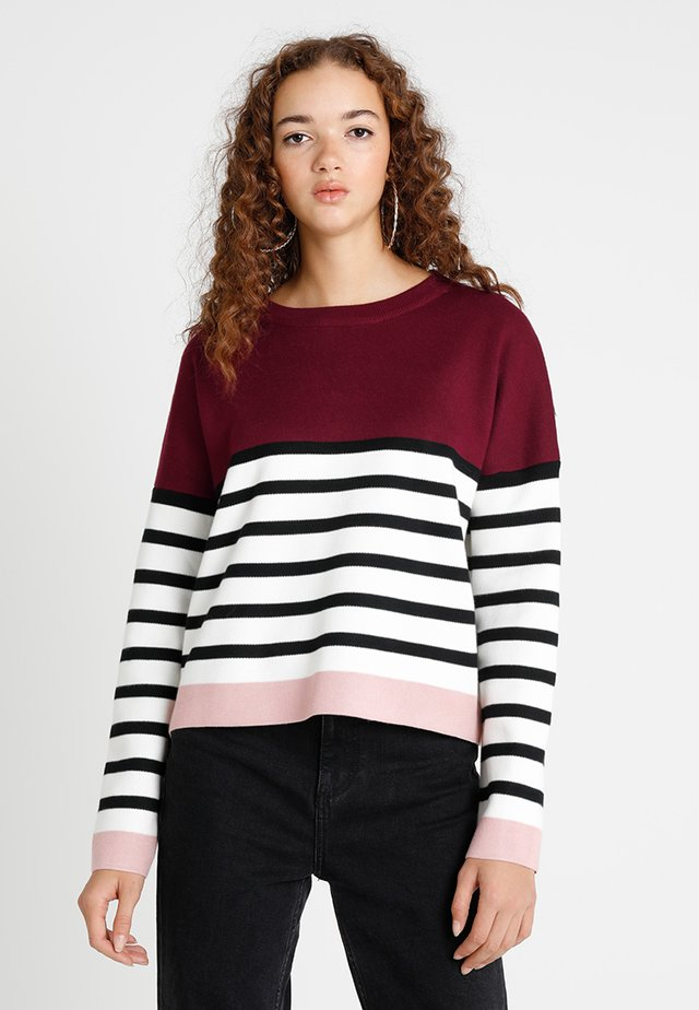 MARIE COLOURBLOCK JUMPER - Trui - bright red