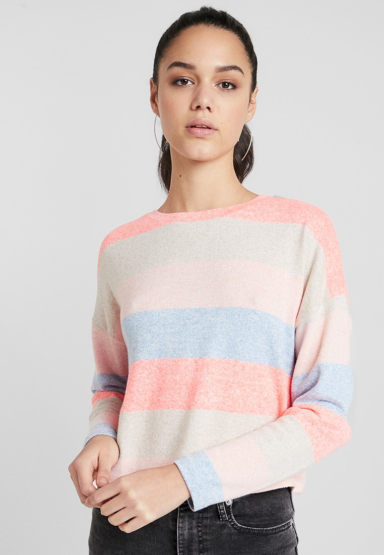 New Look - FLURO STRIPE BOXY  - Strickpullover - multi coloured
