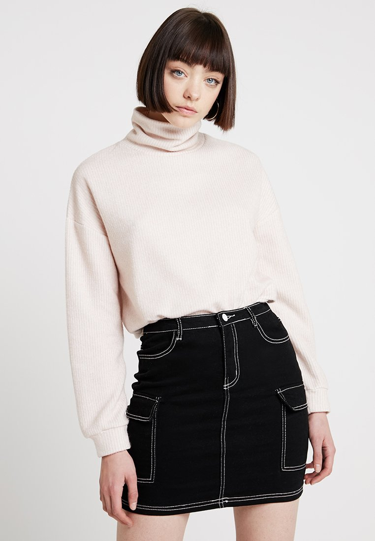 New Look - BRUSHED CROP - Strickpullover - oatmeal