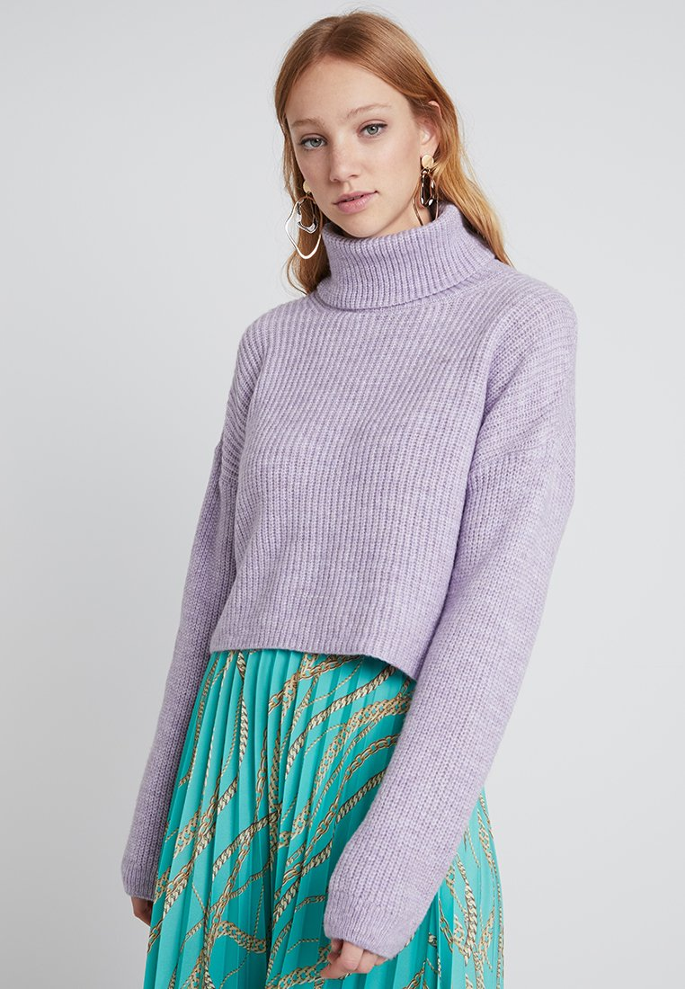 New Look - ROLL NECK JUMPER - Strickpullover - lilac