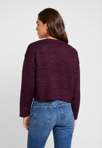 New Look - BOXY STRAIGHT SLEEVE - Maglione - burgundy - 2