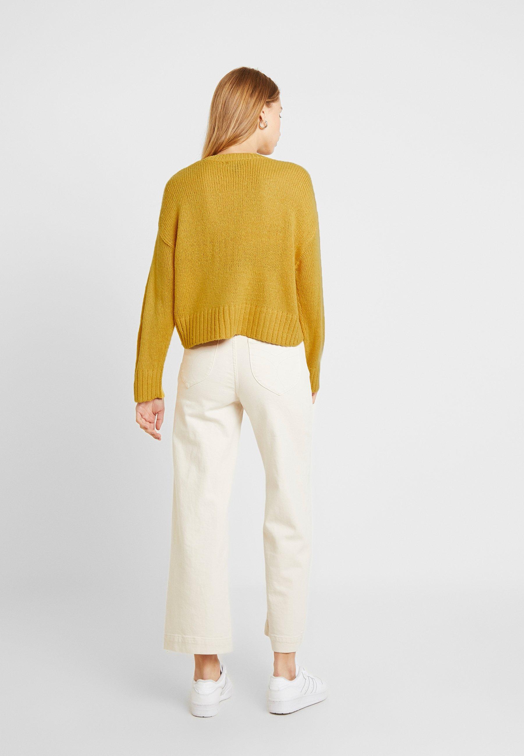 New Look Boxy Straight Sleeve - Trui Dark Yellow vXkcbsKZ
