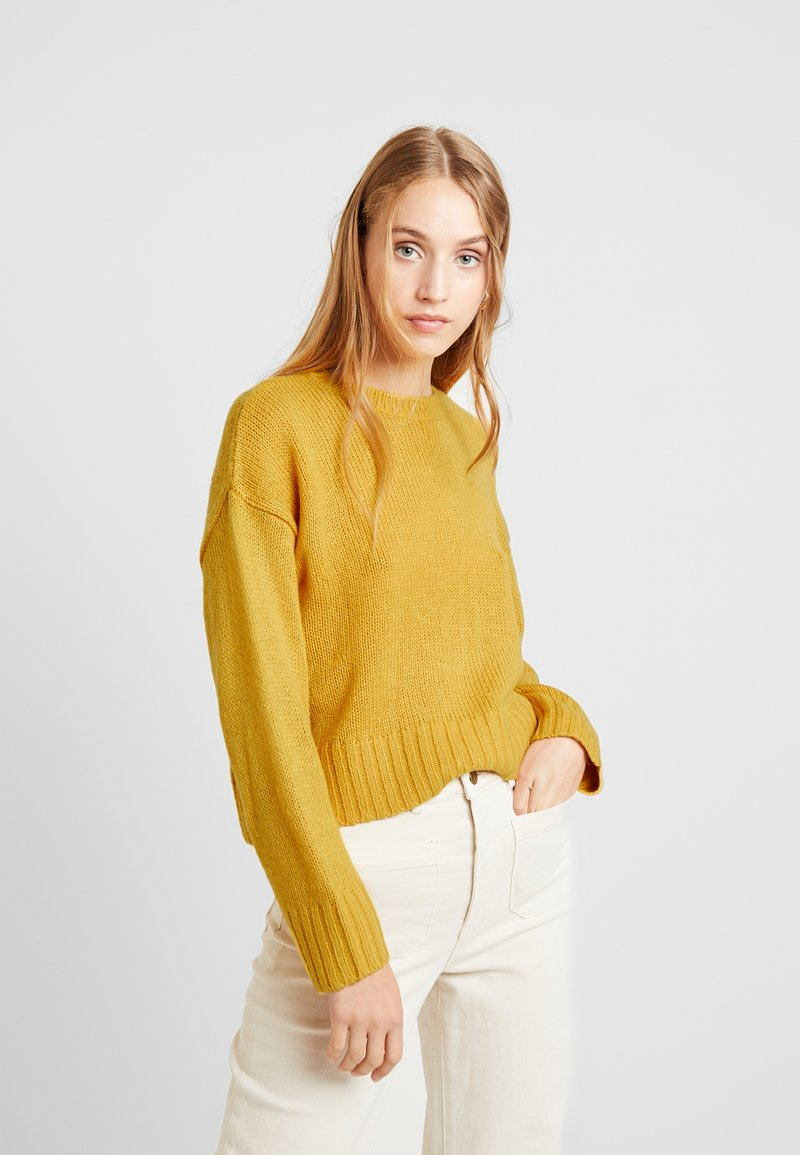New Look - BOXY STRAIGHT SLEEVE - Pullover - dark yellow