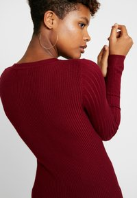 New Look - CREW - Sweter - dark burgundy - 4