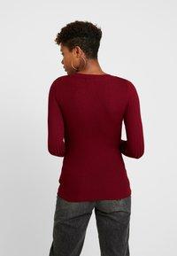 New Look - CREW - Sweter - dark burgundy - 2