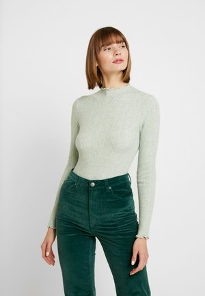 LETTUCE EDGE STAND NECK - Sweter - mint green