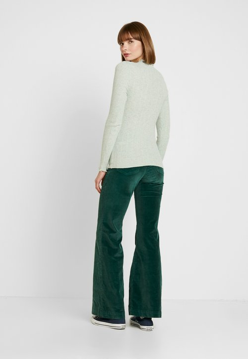 New Look LETTUCE EDGE STAND NECK - Sweter - mint green Odzież Damska PWVH-GM1 ZMNIEJSZONE O 50%