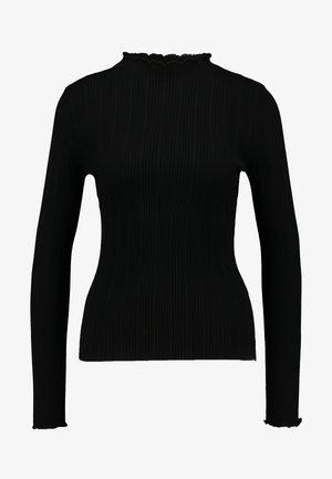 LETTUCE EDGE STAND NECK - Jumper - black