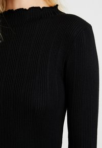 New Look - LETTUCE EDGE STAND NECK - Maglione - black - 5