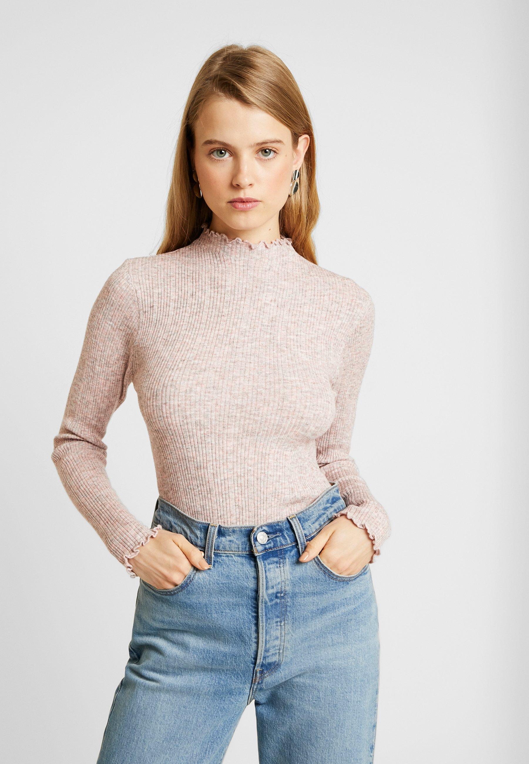 New Look LETTUCE EDGE STAN - Strikkegenser - light pink