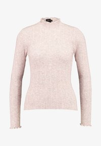 New Look - LETTUCE EDGE STAN - Sweter - light pink - 3
