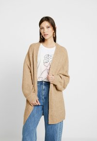 New Look - BATWING CARDIP - Cardigan - camel - 0