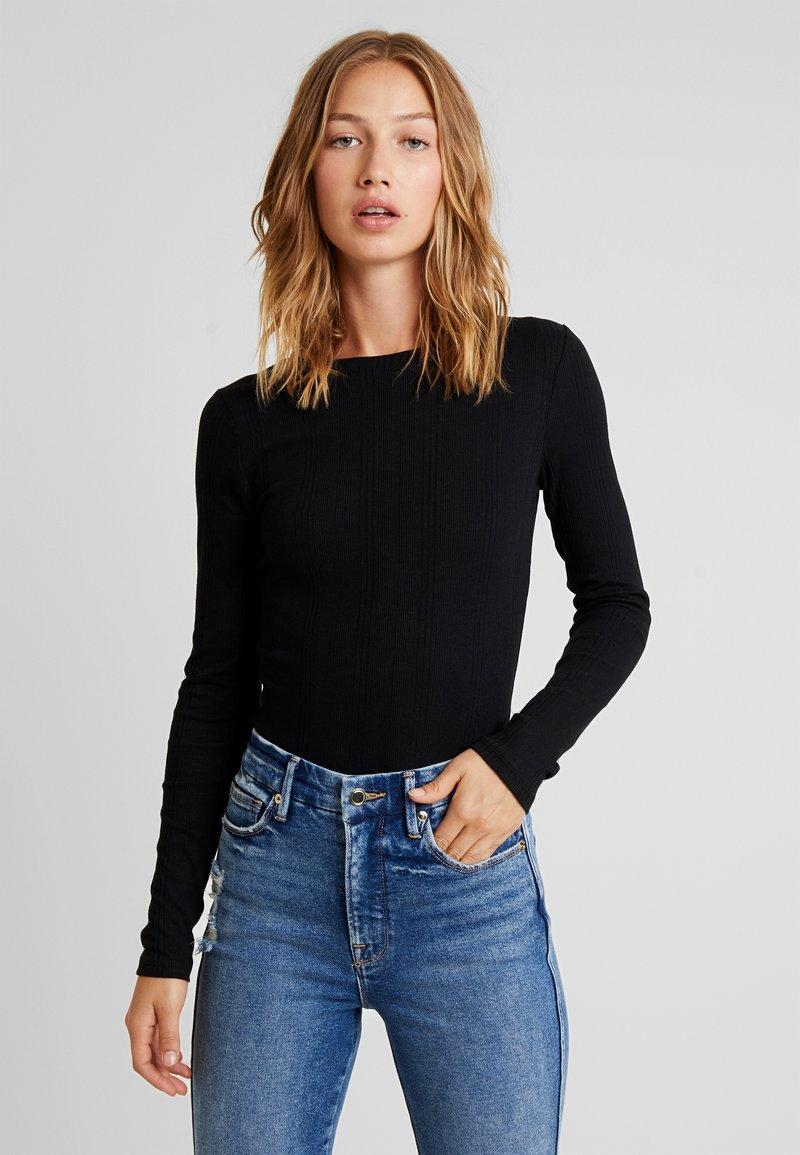 New Look - VERONICA CREW - Long sleeved top - black