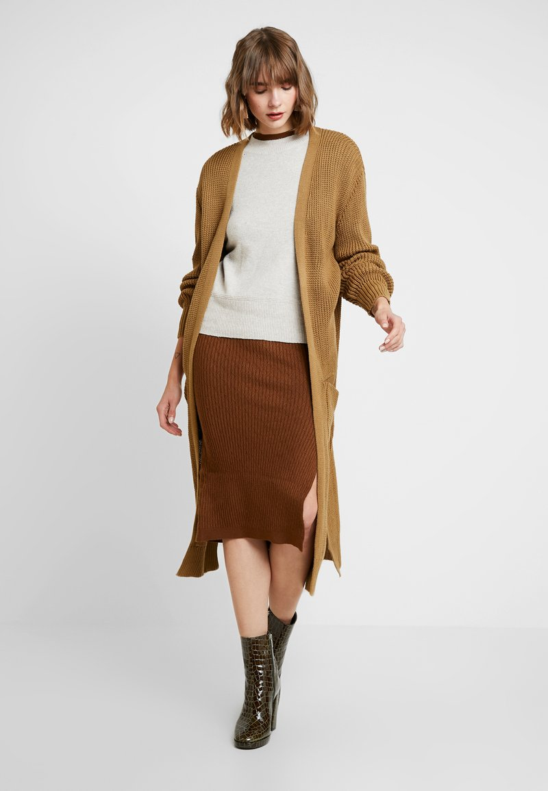 New Look - MAXI POCKET CARDI - Cardigan - stone