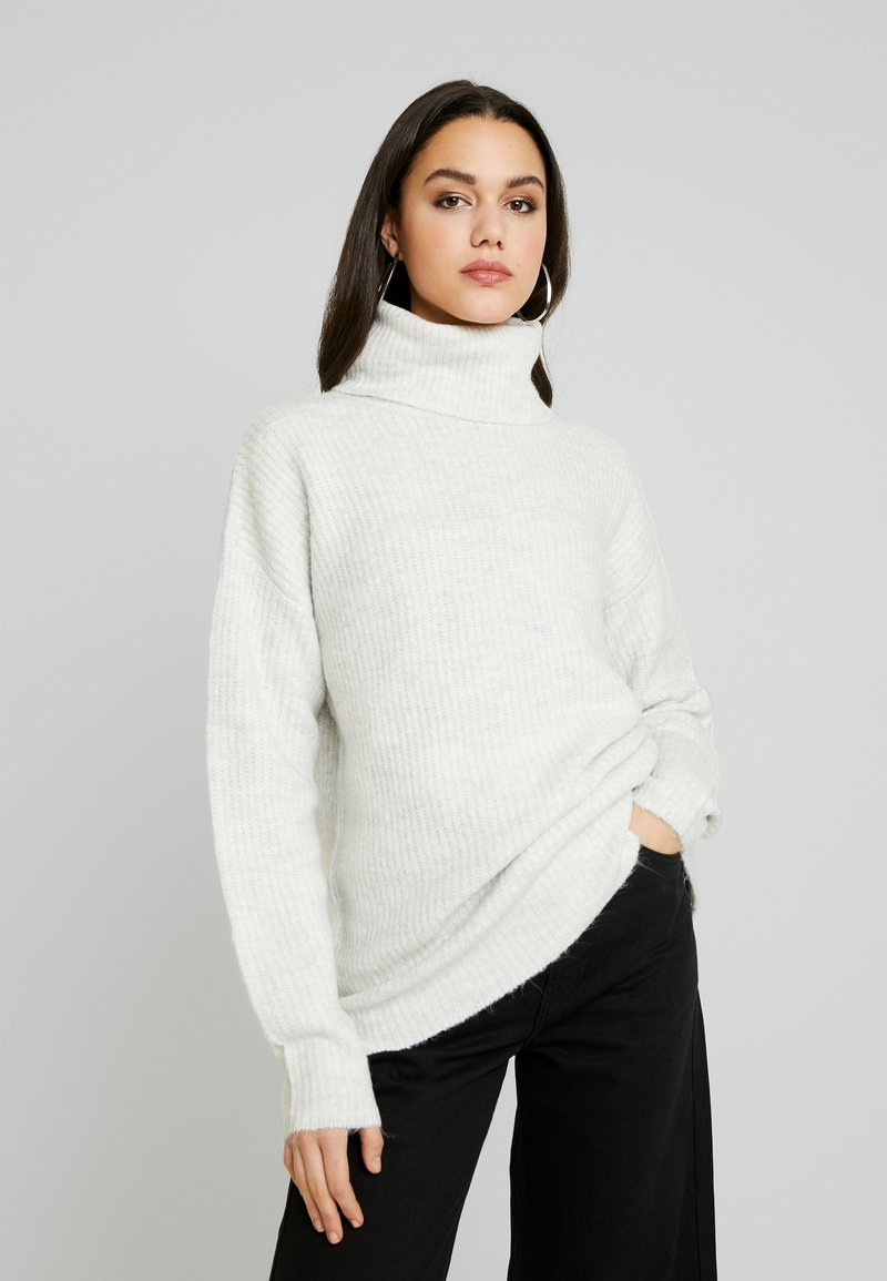 New Look - SLOUCHY LL ROLL  - Jumper - light grey