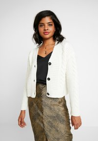 New Look - CABLE CARDIGAN - Cardigan - off white - 0