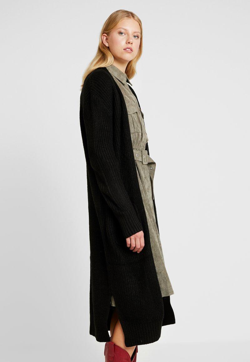 New Look - MAXI POCKET CARDI - Cardigan - black