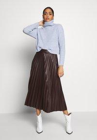 New Look - ROLL NECK JUMPER - Pullover - light blue - 1