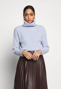 New Look - ROLL NECK JUMPER - Pullover - light blue - 0