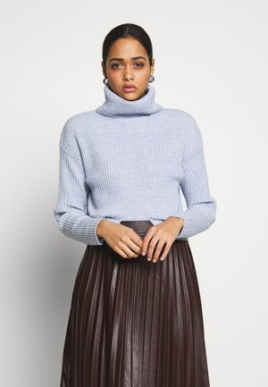 ROLL NECK JUMPER - Strikkegenser - light blue