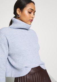 New Look - ROLL NECK JUMPER - Pullover - light blue - 4
