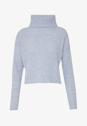 ROLL NECK JUMPER - Strickpullover - light blue