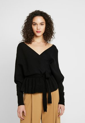 V FRONT V BACK JUMPER - Strickpullover - black