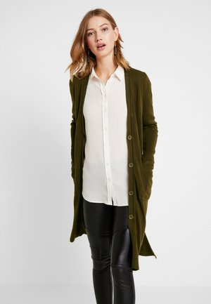 CASH MIDI BUTTON CARDIGAN - Strikjakke /Cardigans - khaki