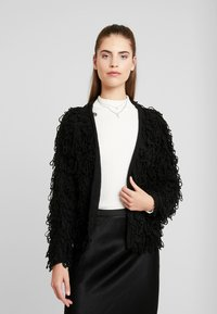 New Look - LOOPY CARDIGAN - Cardigan - black - 0