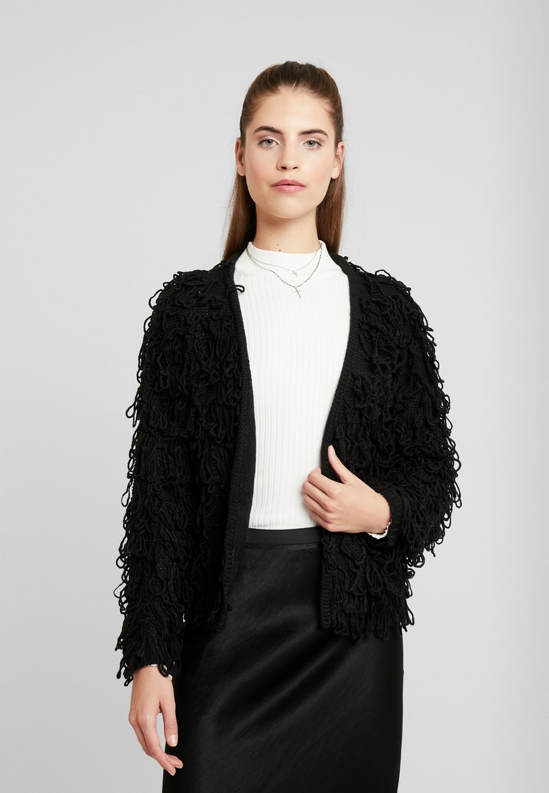 New Look - LOOPY CARDIGAN - Cardigan - black