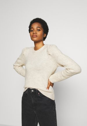 PUFF JUMPER - Strikkegenser - oatmeal