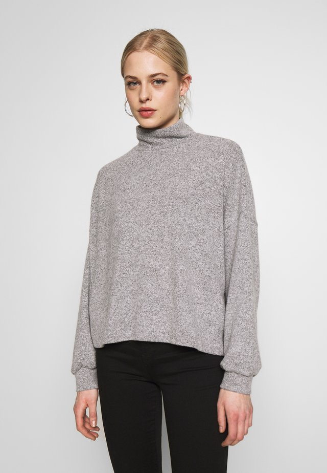 BRUSHED BOXY - Sweter - light grey