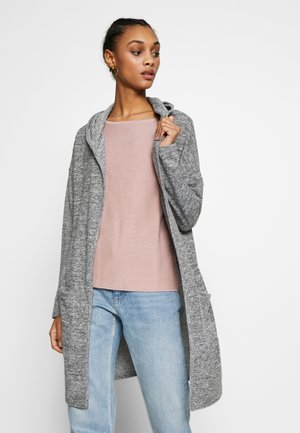 HOODED CARDIGAN - Cardigan - dark grey