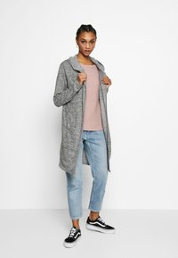 New Look - HOODED CARDIGAN - Cardigan - dark grey - 1