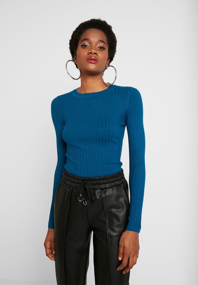 CREW NECK - Sweter - teal