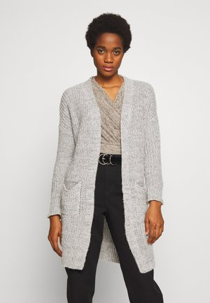 MIDI POCKETS - Cardigan - mid grey