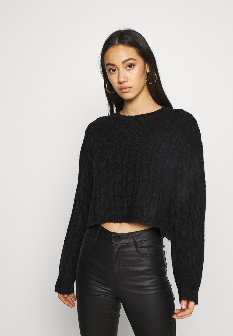 New Look - BASIC - Strikkegenser - black