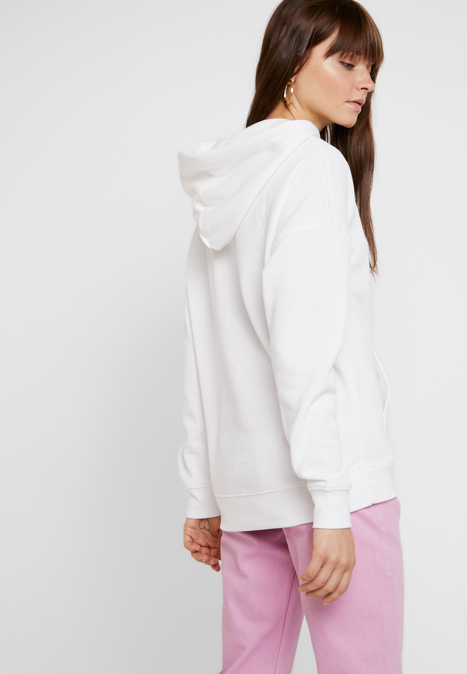 Oversized HoodySweat White Capuche New À Look vnwmN80