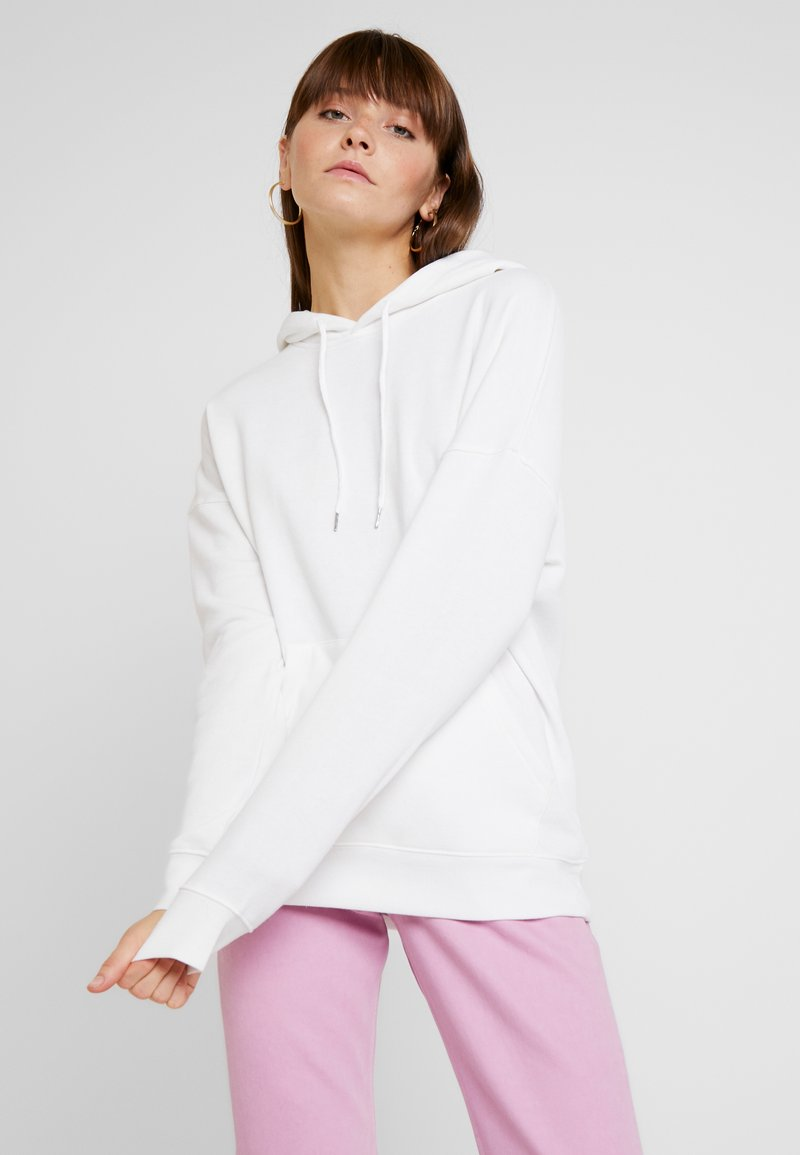 New Look - OVERSIZED HOODY - Mikina skapucí - white