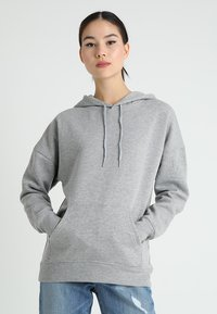 New Look - OVERSIZED HOODY - Sweat à capuche - grey marl - 0