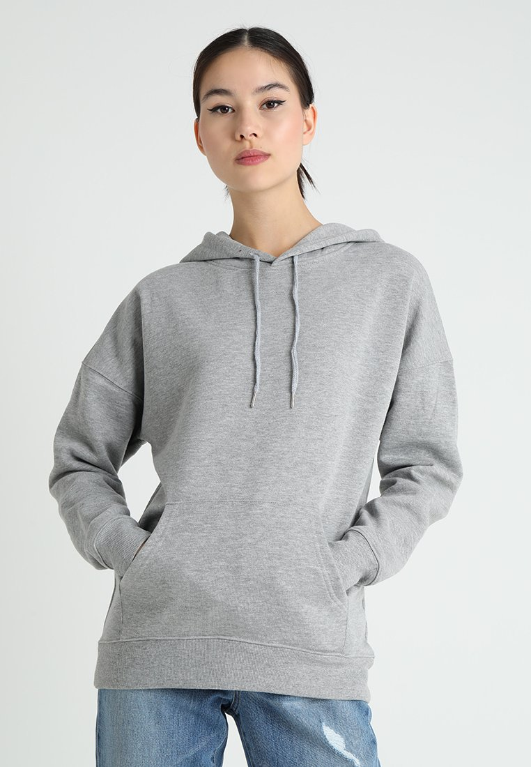 New Look - OVERSIZED HOODY - Sweat à capuche - grey marl