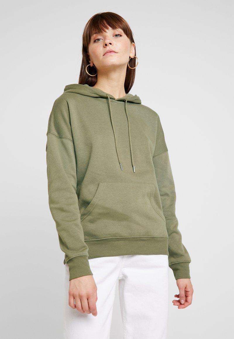 New Look - OVERSIZED HOODY - Hoodie - dark khaki