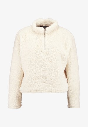 HALF ZIP - Bluza - cream