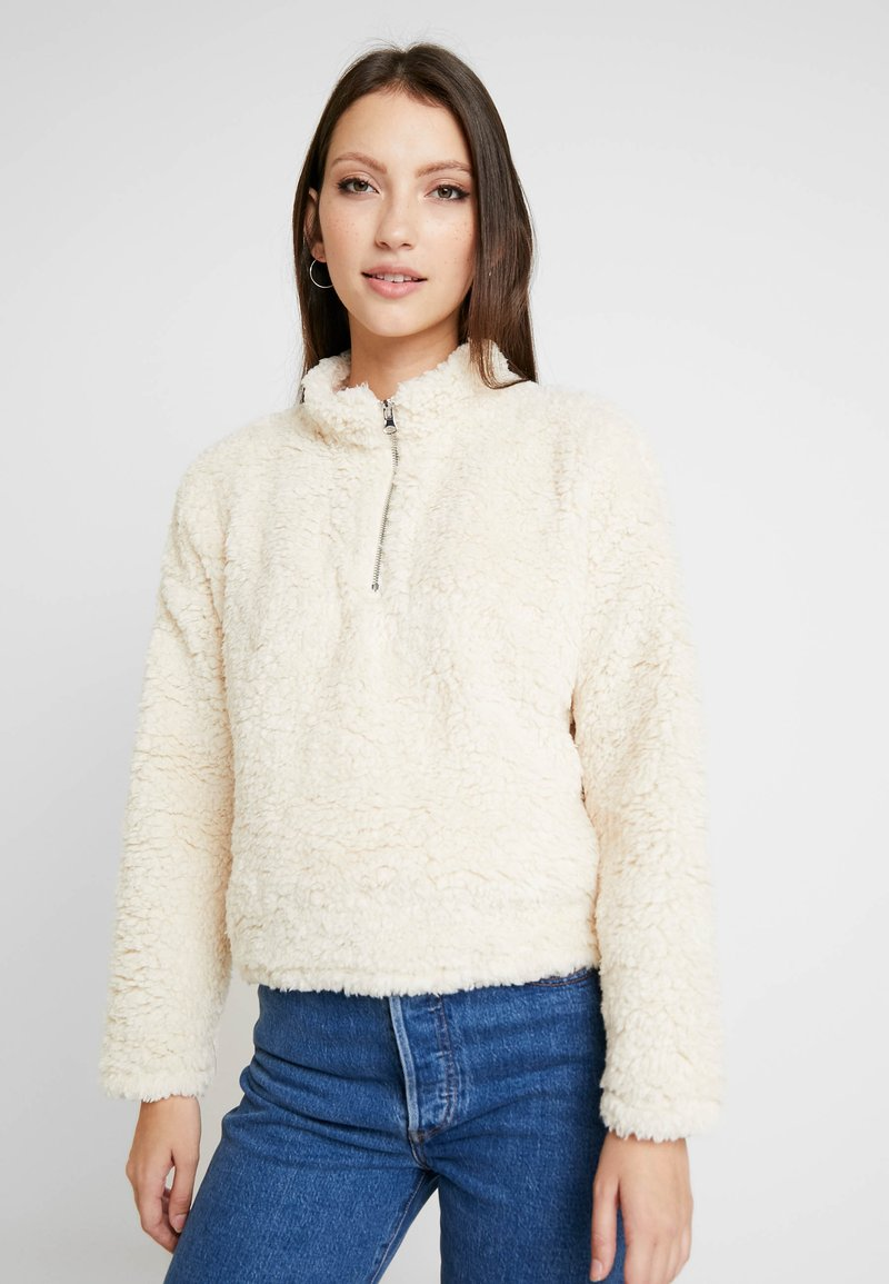 New Look - HALF ZIP - Sweater - cream