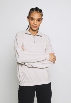 HALF ZIP - Fleecová mikina - light grey
