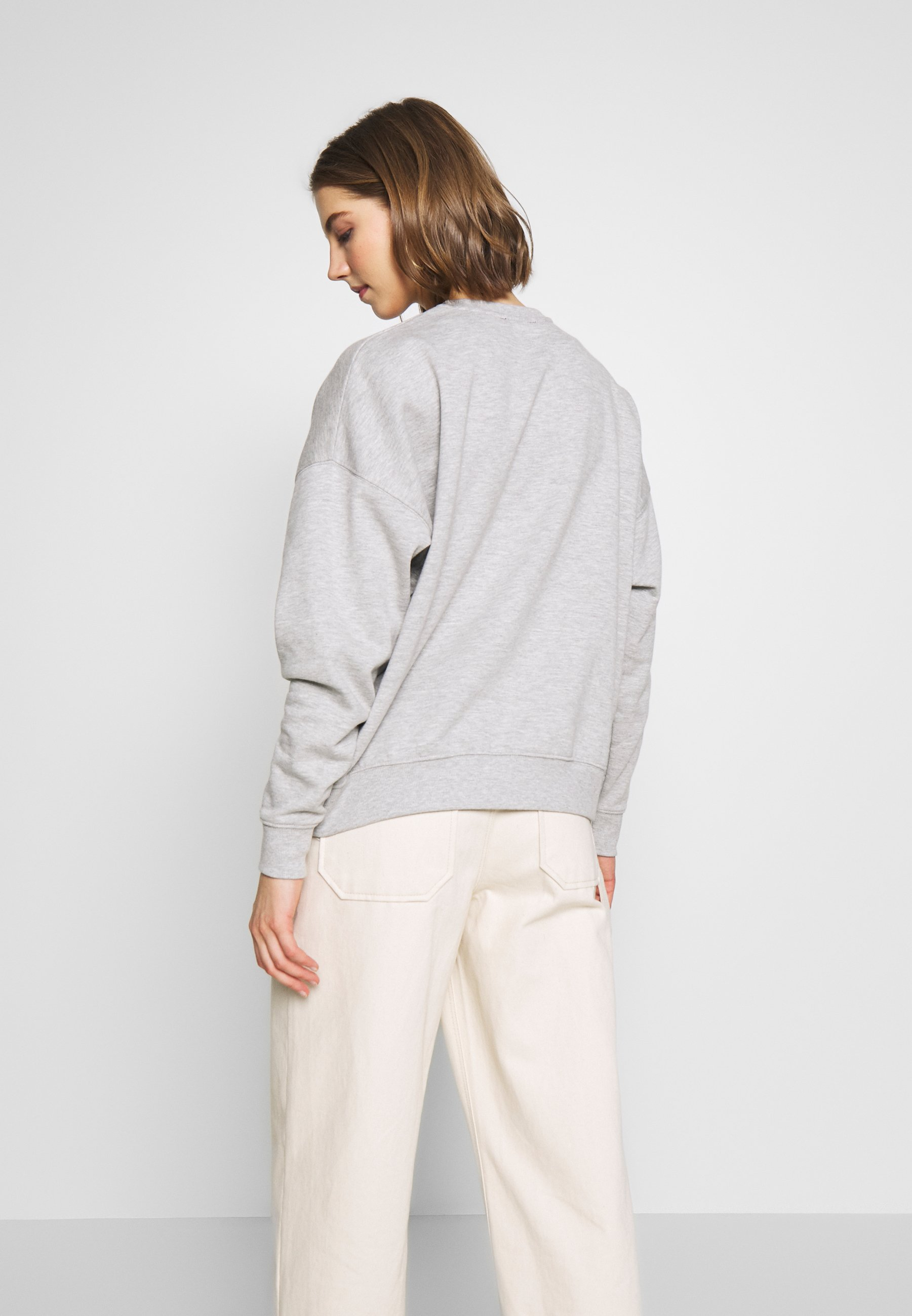 New Look ROSE HEART POCKET - Sweatshirt - light grey